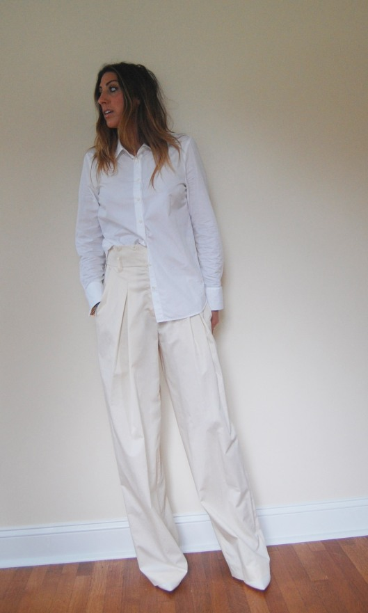 shirt, j.crew. pants, on sale, sonia rykiel, from shopbop. shoes, by dolce vita.