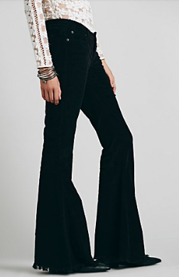 free people super cord flared pant, $78.00