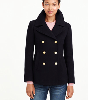 J.crew Majesty Pea Coat, $298.00
