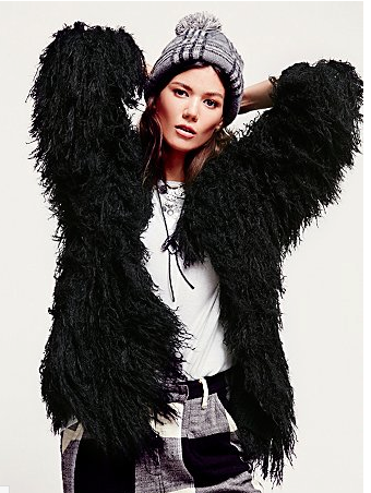 Free People Faithful Shaggy Jacket $198.00