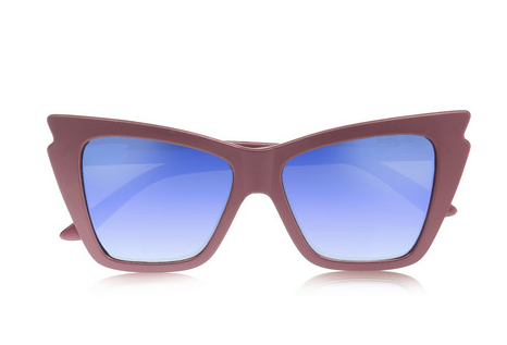 le specs rapture metallic sunglasses, net-a-porter