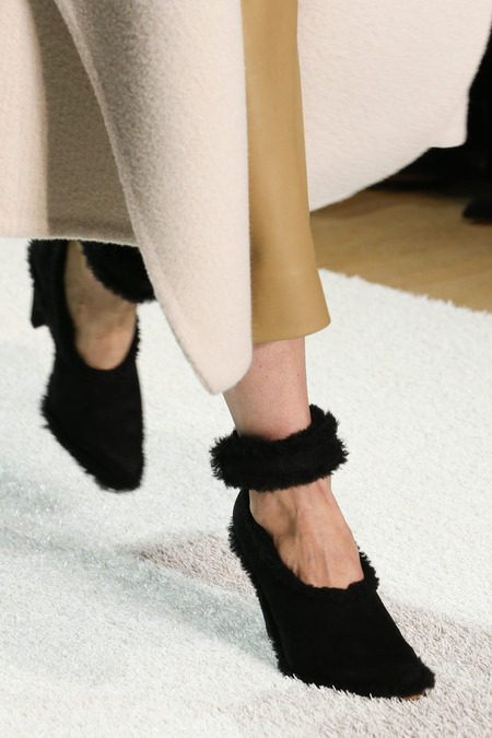 Chloé Fall 2014 Shearling and Suede shoe